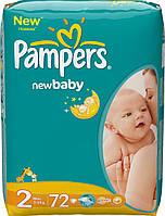 Подгузники Pampers active baby 2 (3-6 кг) 72шт., фото 1