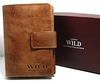 Женский кожаный кошелек коричневого цвета из нубука Always Wild