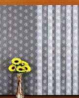 """Гардинное полотно """"Одуванчики"""" (белый), высота 300 см"""