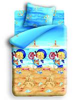 Детское постельное белье Морячок 1,5-спальный  ТМ Непоседа,100% хлопок белый