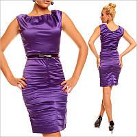 Деловое платье фиолетового цвета