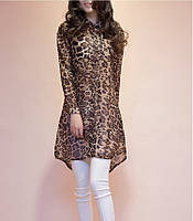 Блузка туника леопард