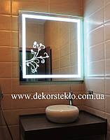 Зеркало с декоративной подсветкой на заказ