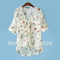 Стильная блузка с узором