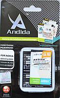 Аккумулятор Andida Nokia BL 4U 3120, 6600s, 8800, 5530, 1400mah