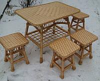 Плетеный набор мебели