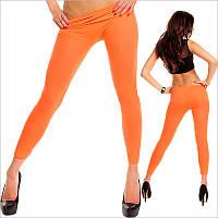 Женские спортивные леггинсы оранжевого цвета