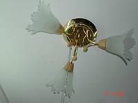 Люстра, 3 лампы, золото