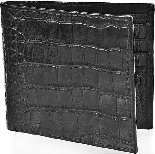 Практичное кожаное портмоне, мужское ISSA HARA WB1 (21-00) черное