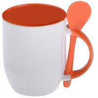 Цветная чашка с ложкой и Вашим фото