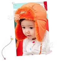Детская шапка ушанка на меху
