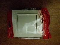 Выключатель одинарный с подсветкой EL-BI, ZENA Кремовый