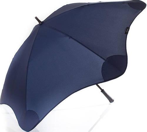 Прочный противоштормовой зонт-трость с большим куполом механический BLUNT (БЛАНТ) Bl-classic-navy-blue