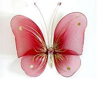 Декоративная бабочка для штор и тюлей большая красная, размер: 20*18 см