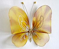 Декоративная бабочка для штор и тюлей большая золотая