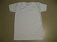 Детская белая футболка для мальчиков и девочек. 2,4  Производство Турция-Biyoteks