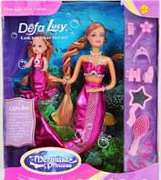 Кукла DEFA 20978 русалки 2шт, меняет цвет волос