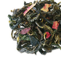 Чай улун клубника, ароматный слабоферментированный напиток, тонизирует, улучшает обмен веществ, пакет 100 г