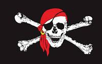 """Пиратский флаг """"Веселый Роджер"""" большой"""