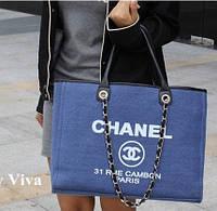 Большая сумка с короткими ручками Chanel