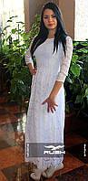 Элегантное платье из гипюра