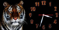 "Часы-картина ""Тигр"" 30х60 см красивый подарок"
