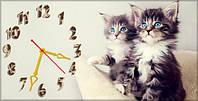 """Часы-картина """"Котята"""" 30х60 см красивый подарок"""