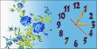 """Часы-картина """"Оригинальные розы"""" 30х60 см красивый подарок"""