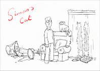 """Магнит сувенирный """"Simon's Cat"""" 17"""