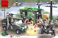 Конструктор Brick 809 Военный штаб 285 детали