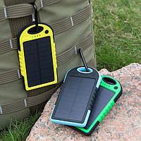 Защищенный Power Bank с солнечной батареей  5000mAh