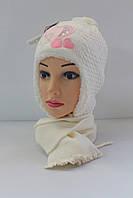 Шапка детская зимняя на меху с шарфом