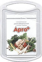 Антисептическая разделочная доска «Арго-Плюс» содержит частицы серебра, убивает бактерии, запах