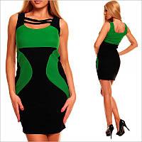 Облегающее платье с круглым вырезом