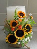 Свадебная свеча в украинском стиле