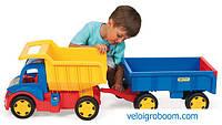 Машина большая грузовик с прицепом 65100 Гигант Wader Тигрес самосвал для детей