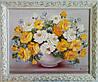 Картина маслом цветы «Розы» купить живопись Киев