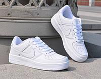Кроссовки унисекс Nike Air Force белые низкие копия