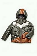Куртка демисезонная для мальчика (хаки размер 110-128))