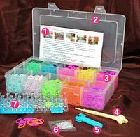 Набор RAINBOW LOOM - MIX-3000 для плетения из резинок