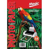"""Фотобумага """"Magic"""" глянцевая А4, плотность 180 гр/м2, 100 листов"""