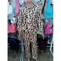 Пижама махровая для девочки. Подростковая. Леопард