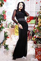 Платье женское прилегающего силуэта длинной макси