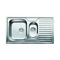 Кухонная мойка с полкой врезная 880*500*180 CRISTAL Satin