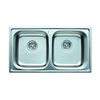 Кухонная мойка двойная врезная 780*430*200 CRISTAL Decor