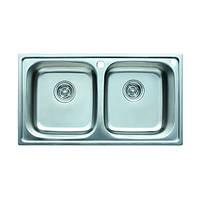 Кухонная мойка двойная врезная 780*430*200 CRISTAL Satin