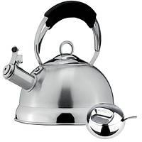 Чайник со свистком VINZER GENEVA 2,4л + сахарница 240мл. с ложкой