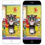 Телефон игровой 201 B Кот Том с наушниками