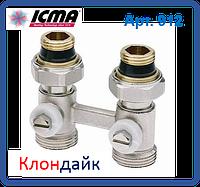 Icma Двухтрубный вентиль для панельного радиатора со встроенной термостатической группой прямой