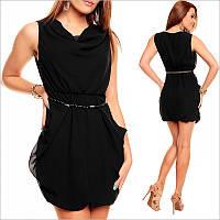 Легкое платье черного цвета